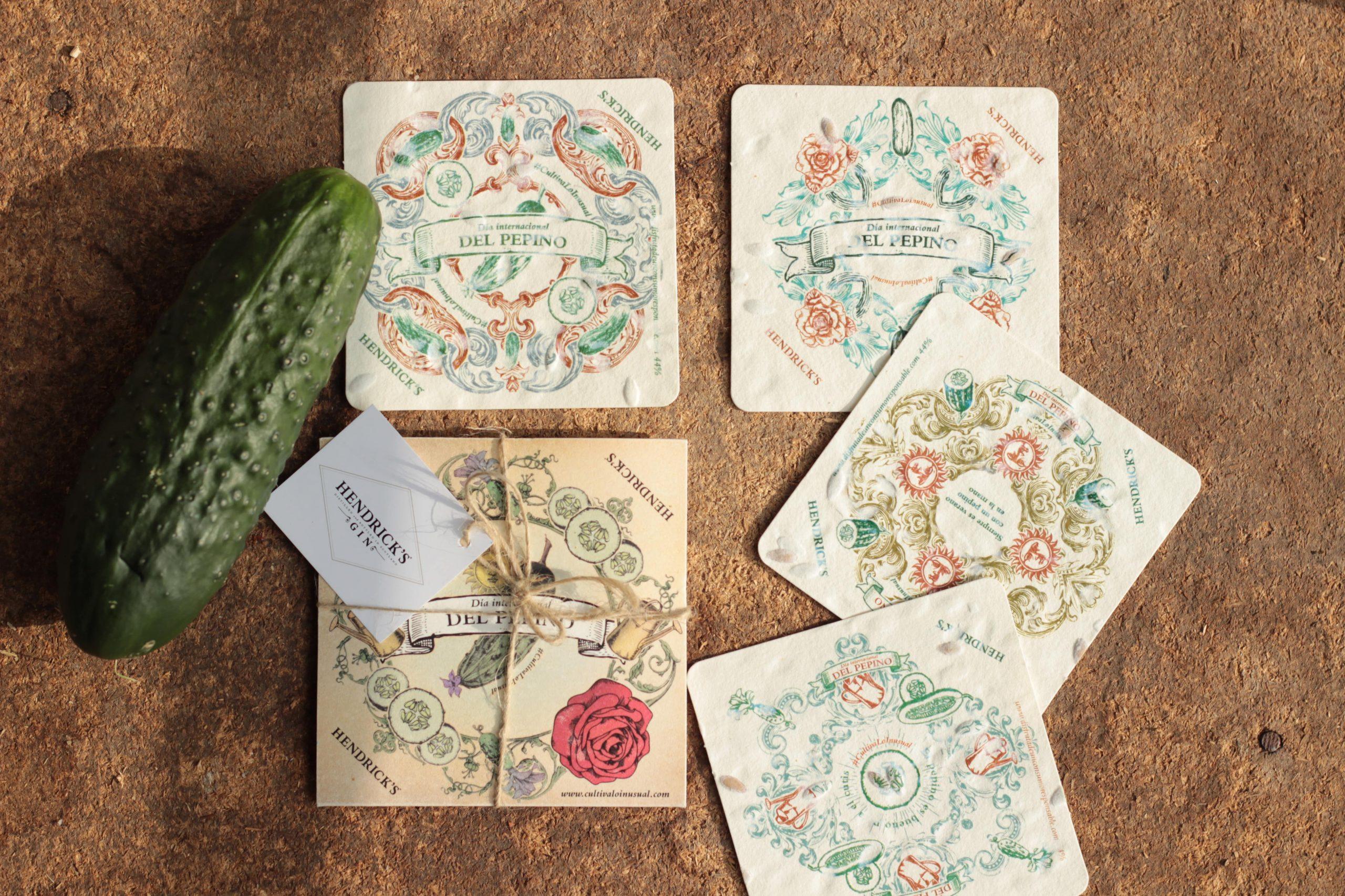 posavasos papel de semillas plantable