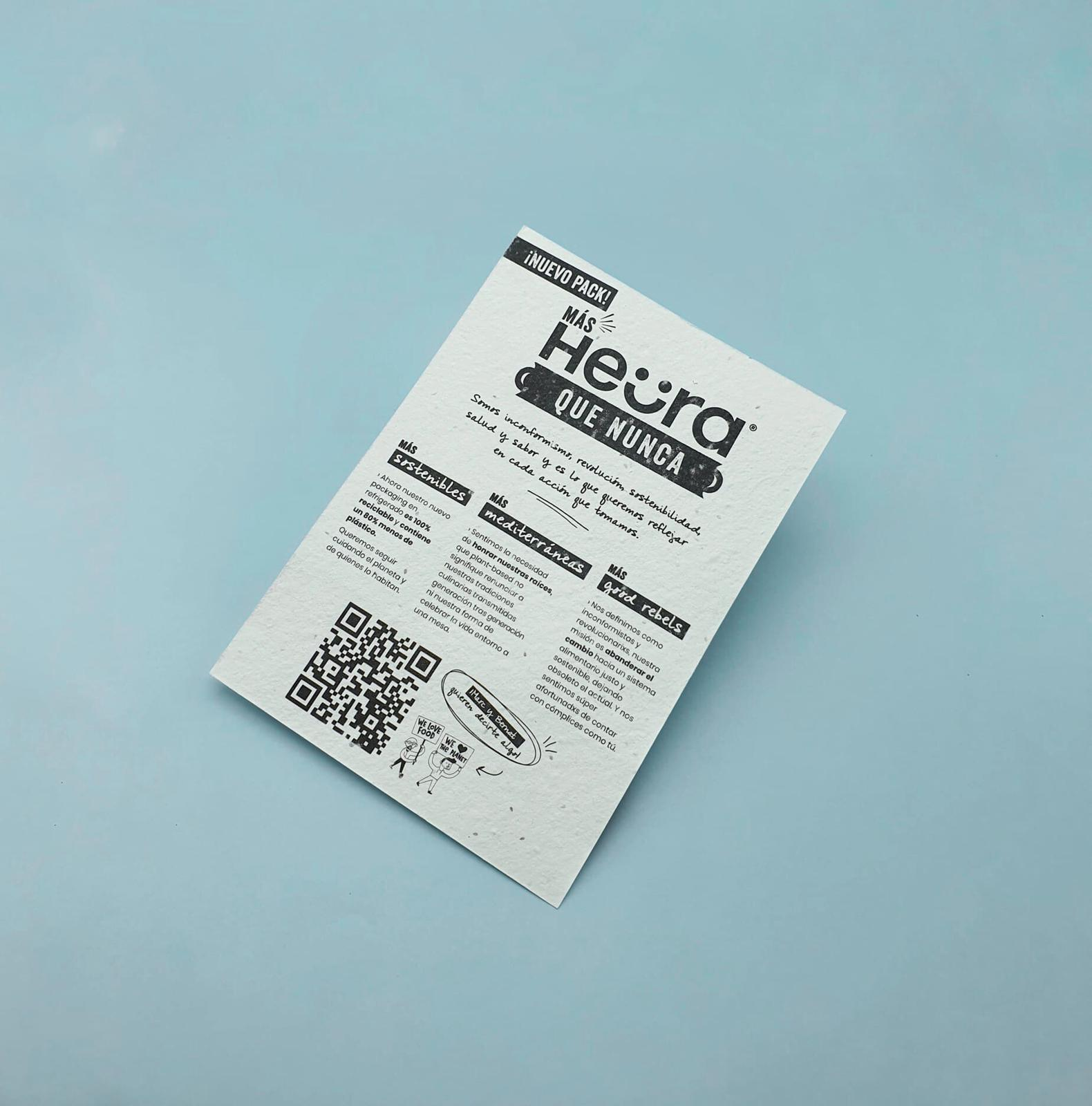 flyer plantable papel con semillas Heura