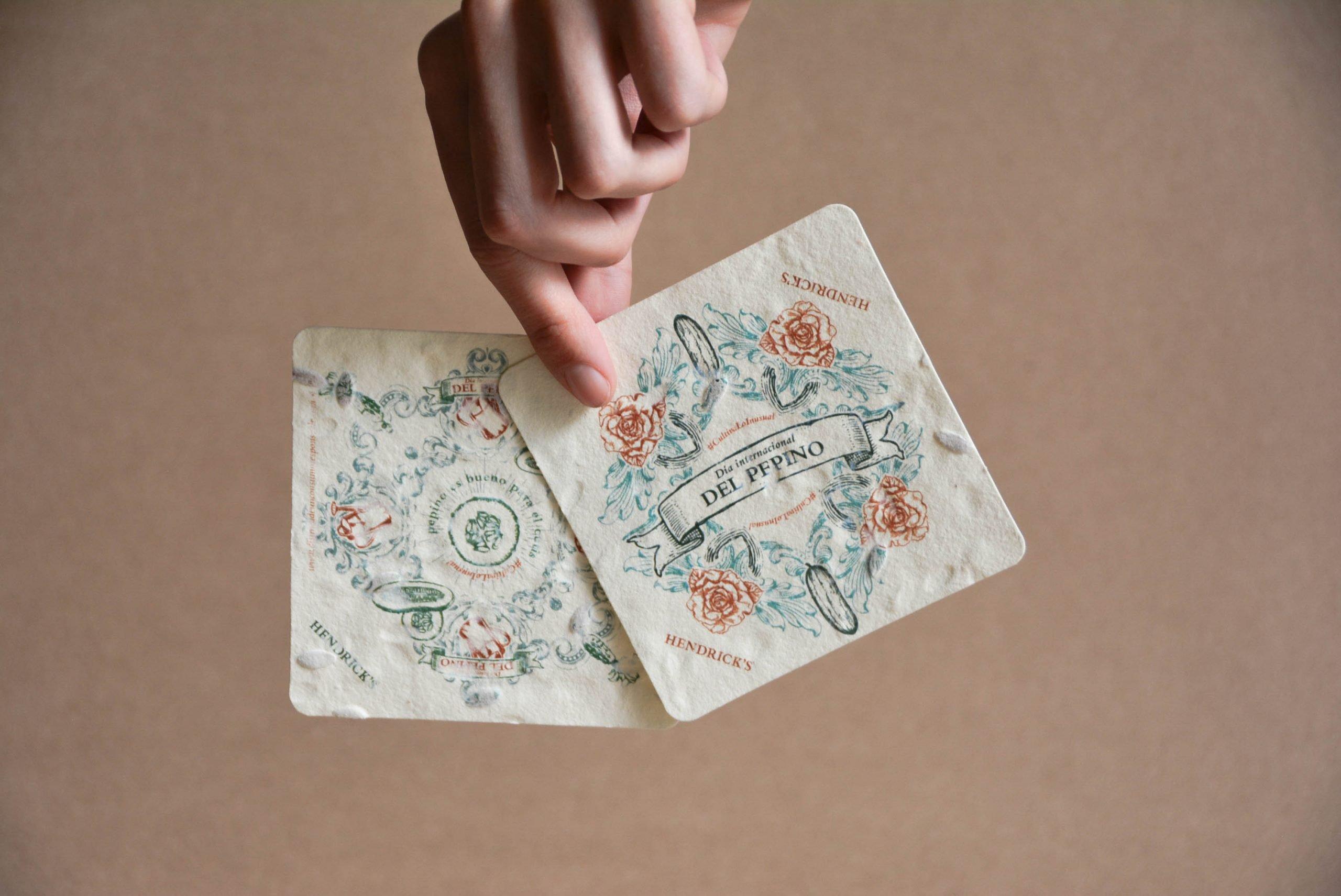 papel con semillas plantable massimo dutti