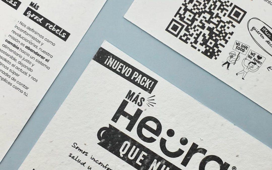 Campaña en papel con semillas de Heura