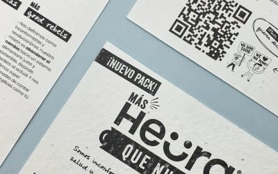 El Flyer Plantable de Heura, una campaña en papel con semillas