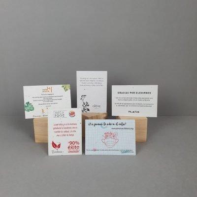 Tarjetas de visita papel semillas