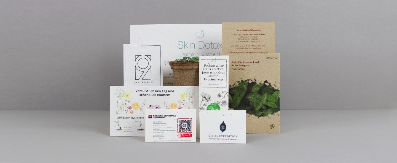 papel plantable con semillas