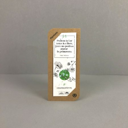 tarjetones kraft papel plantable