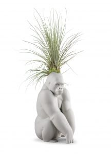 Gorilla with airplant (Lladró & Plant The Future)