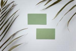 tarjetas de visita sostenibles