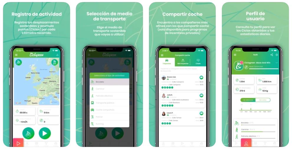 Aplicaciones sostenibles para empresas Ciclogreen
